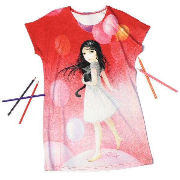 Nadzieja - ilustrowana sukienka dziewczęca