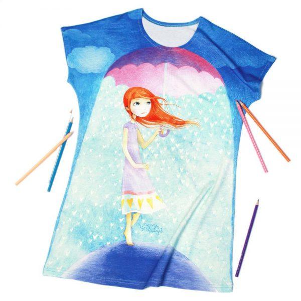 W Deszczu Miłości - sukienka dziewczęca