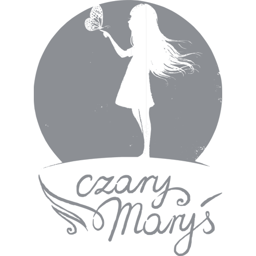 logo Czary Maryś szare
